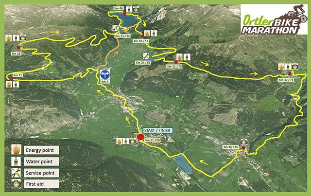 Ortler Bike Marathon - Cartina percorso Marathon 2019